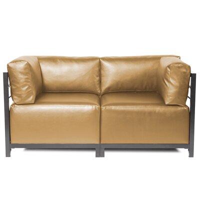Woodsen Shimmer Sectional Frame Finish: Titanium, Upholstery: Gold