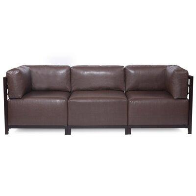 Woodsen Avanti Sectional Upholstery: Pecan, Frame Finish: Mahogany