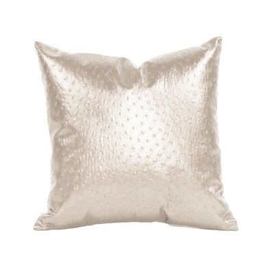Boyle Throw Pillow Size: 16 H x 16 W, Color: Pearl