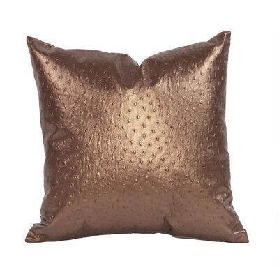 Boyle Throw Pillow Color: Copper, Size: 16 H x 16 W