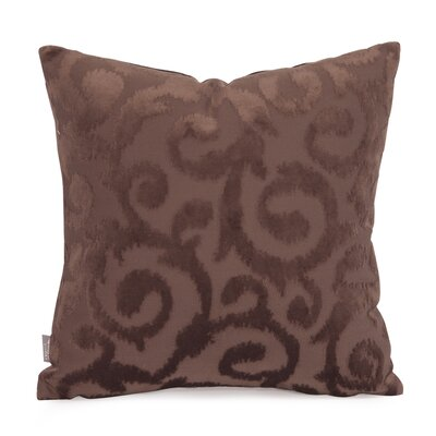 Blur Throw Pillow Size: 16 x 16, Color: Chocolate