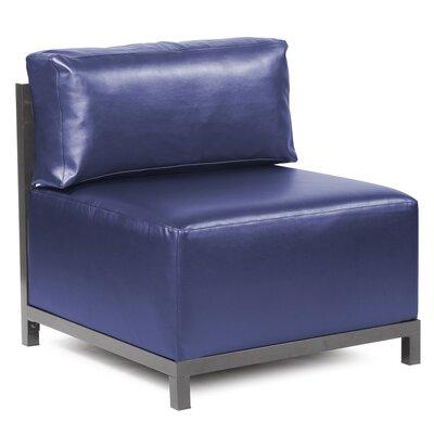 Woodsen Box Cushion Armchair Slipcover Upholstery: Sapphire