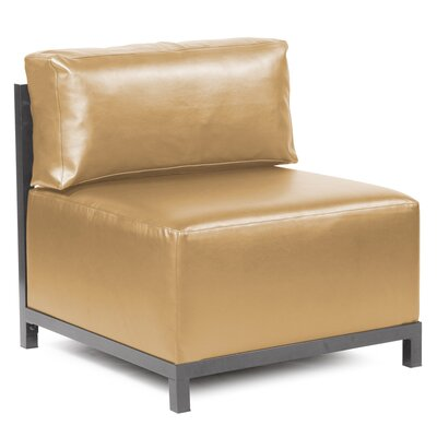 Woodsen Box Cushion Armchair Slipcover Upholstery: Gold