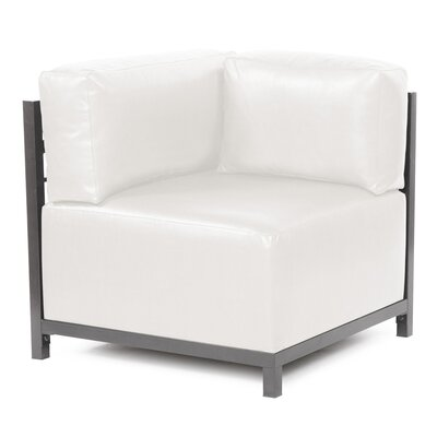Woodsen Box Cushion Armchair Slipcover Upholstery: White