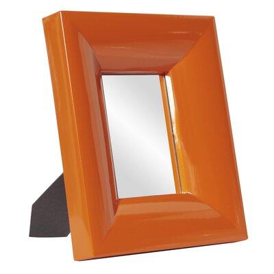 Square Table Top Mirror Finish: Orange