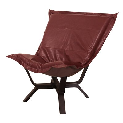 Baitz Avanti Puff Chair Upholstery: Apple - Red