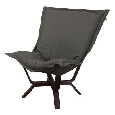 Baitz Sterling Puff Chair Upholstery: Charcoal