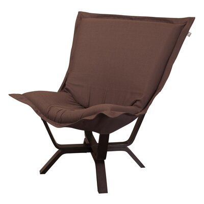 Baitz Sterling Puff Chair Upholstery: Chocolate