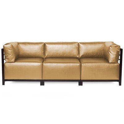 Woodsen Shimmer Sectional Frame Finish: Mahogany, Upholstery: Gold