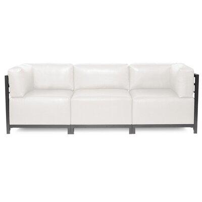 Woodsen Avanti Sectional Upholstery: White, Frame Finish: Titanium