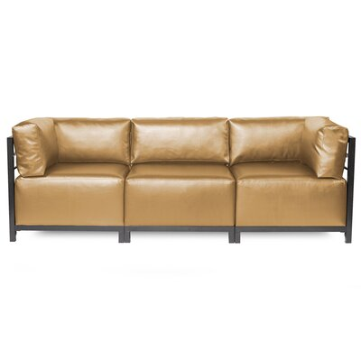 Woodsen Shimmer Sectional Frame Finish: Titanium, Upholstery: Gold