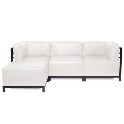 Woodsen Sectional with Cushions Finish: Mahogany, Color: White