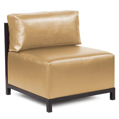 Woodsen Shimmer Chair Frame Finish: Mahogany, Upholstery: Gold