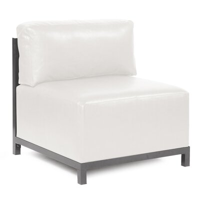 Woodsen Avanti slipper Chair Finish: Titanium, Upholstery: White