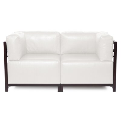 Woodsen Avanti Sectional Frame Finish: Mahogany, Upholstery: White