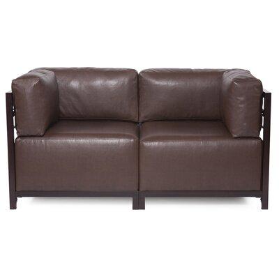 Woodsen Avanti Sectional Frame Finish: Mahogany, Upholstery: Pecan