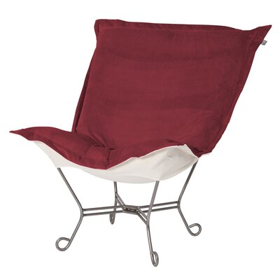 Mattingly Scroll Puff Lounge Chair Color: Titanium