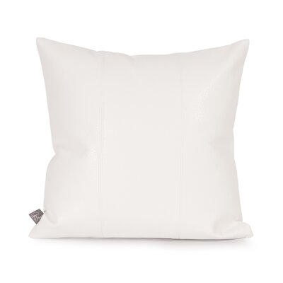 Lovina Faux leather Throw Pillow Color: White, Size: 16 H x 16 W
