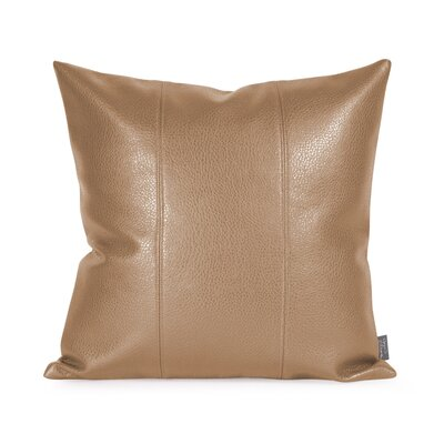 Lovina Faux leather Throw Pillow Color: Bronze, Size: 16 H x 16 W