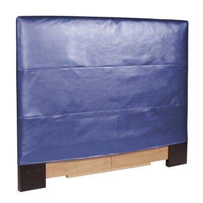 Headboard Slipcover Size: Full/Queen, Upholstery: Shimmer Sapphire
