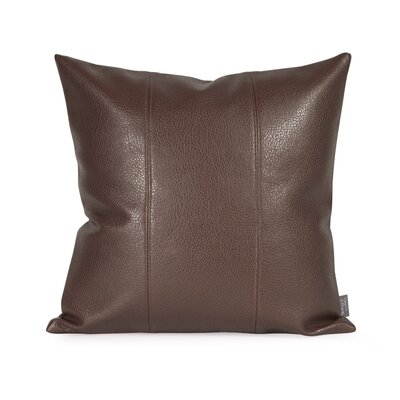 Lovina Faux leather Throw Pillow Color: Pecan, Size: 16 H x 16 W