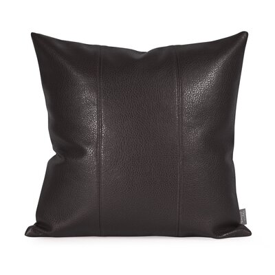 Lovina Faux leather Throw Pillow Color: Black, Size: 16 H x 16 W