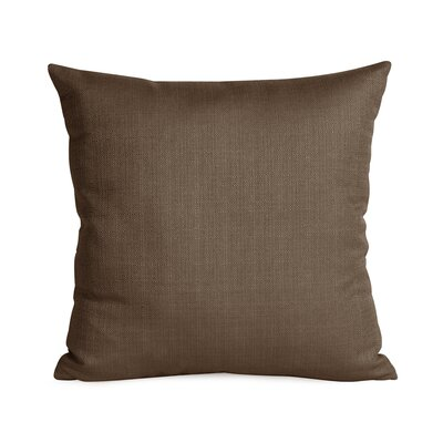 Frye Throw Pillow Color: Chocolate, Size: 16 H x 16 W