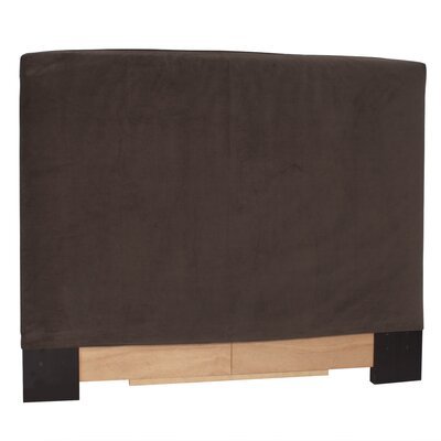 Headboard Slipcover Size: Full/Queen, Upholstery: Bella Chocolate