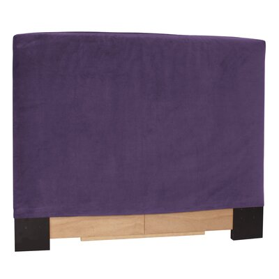 Headboard Slipcover Size: Full/Queen, Upholstery: Bella Eggplant