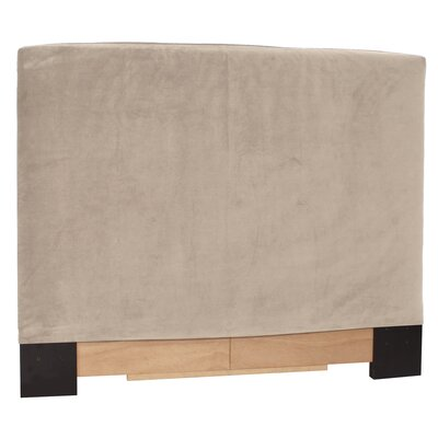 Headboard Slipcover Size: Full/Queen, Upholstery: Bella Sand
