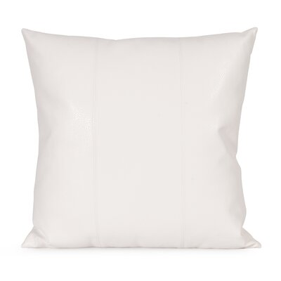Lovina Faux leather Throw Pillow Size: 20 H x 20 W, Color: White