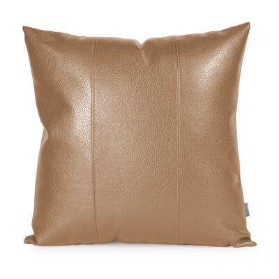 Lovina Faux leather Throw Pillow Size: 20 H x 20 W, Color: Bronze