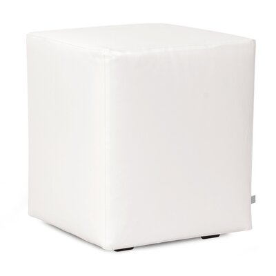 St James Cube Ottoman Upholstery: White