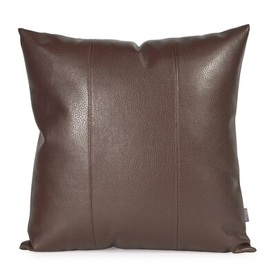 Lovina Faux leather Throw Pillow Size: 20 H x 20 W, Color: Pecan