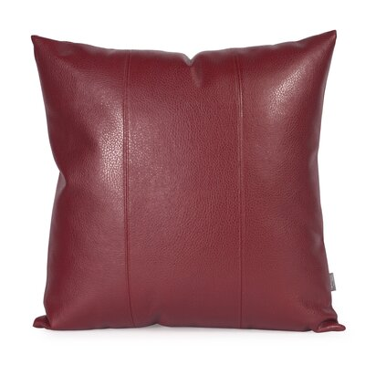 Lovina Faux leather Throw Pillow Size: 20 H x 20 W, Color: Apple - Red