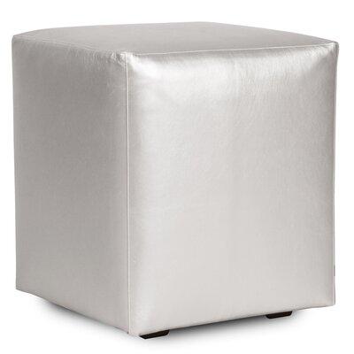 Cherie Shimmer Cube Ottoman Upholstery: Mercury