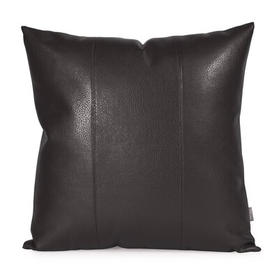 Lovina Faux leather Throw Pillow Size: 20 H x 20 W, Color: Black