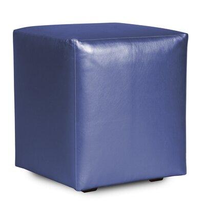 Cherie Shimmer Cube Ottoman Upholstery: Sapphire