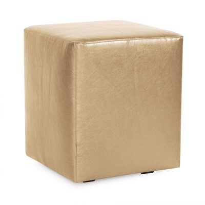 Cherie Cube Ottoman Upholstery: Gold