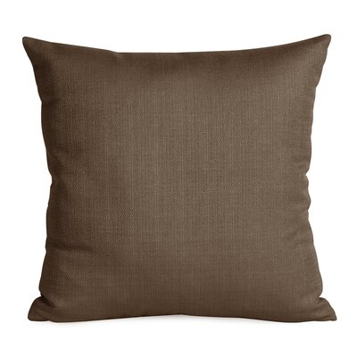 Alyssia Throw Pillow Size: 20 H x 20 W x 4 D, Color: Chocolate