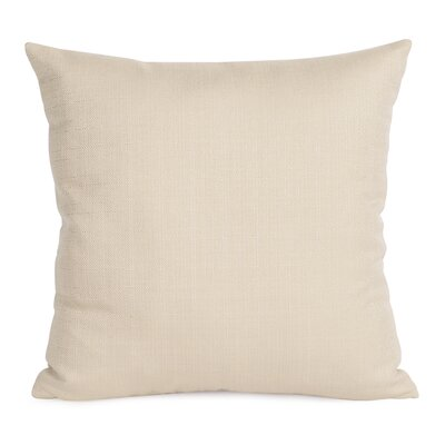 Alyssia Throw Pillow Size: 20 H x 20 W x 4 D, Color: Sand