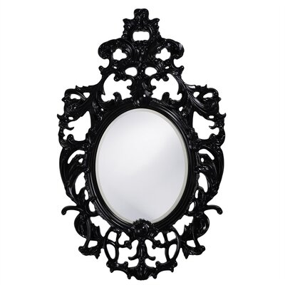 Oval Resin Vertical Mirror Finish: Glossy Black