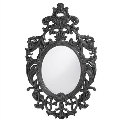 Oval Resin Vertical Mirror Finish: Charcoal Gray