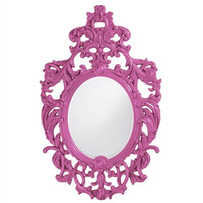 Oval Resin Vertical Mirror Finish: Hot Pink