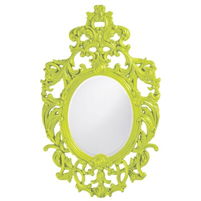 Oval Resin Vertical Mirror Finish: Green