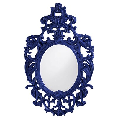 Oval Resin Vertical Mirror Finish: Royal Blue