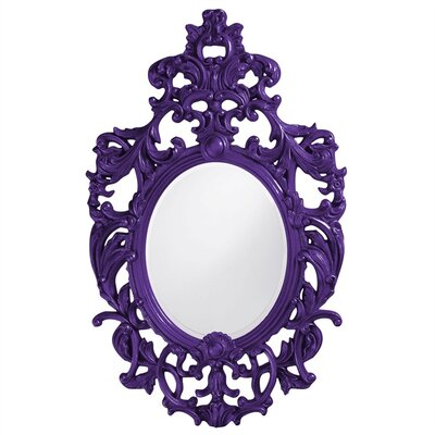 Oval Resin Vertical Mirror Finish: Royal Purple