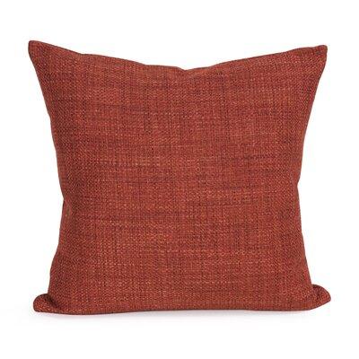 Abraham Texture Coco Soft Burlap Throw Pillow Color: Coral, Size: 20 H x 20 W