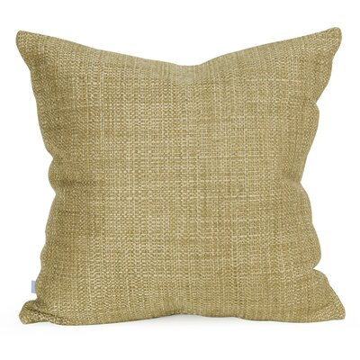 Abraham Texture Coco Soft Burlap Throw Pillow Color: Peridot, Size: 20 H x 20 W