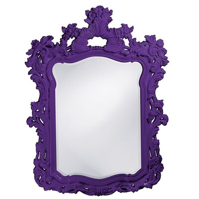 Feathery Scrolling Resin Mirror Finish: Royal Purple